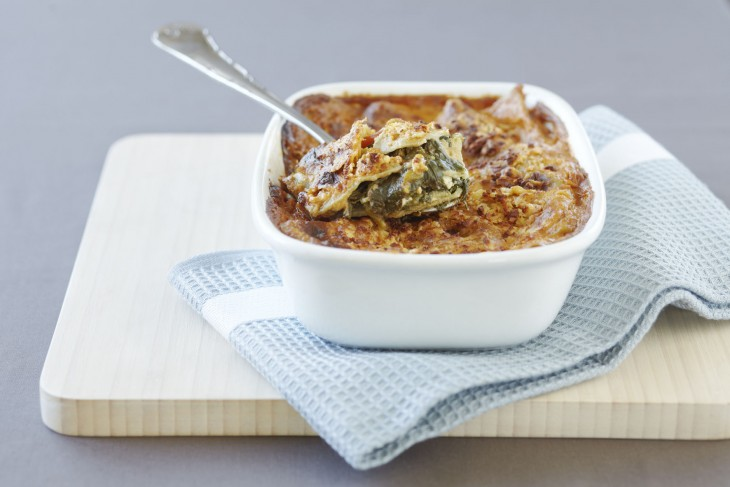 Spinach Feta Lasagne - Tibits Food.
